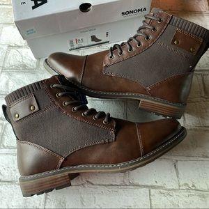 NWT Men's Sonoma Ortholite Eco Simon Lace Up Boots Size 9 1/2 Wide